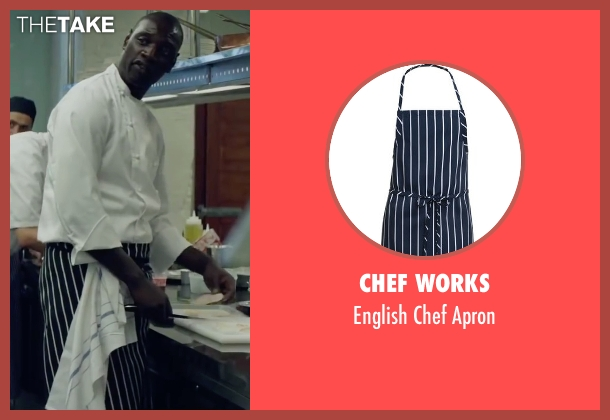 Chef Works apron from Burnt seen with Omar Sy (Michel)