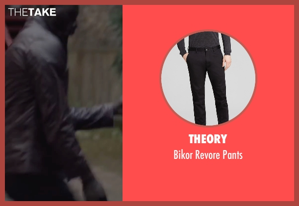 Theory black pants from Burnt seen with Omar Sy (Michel)