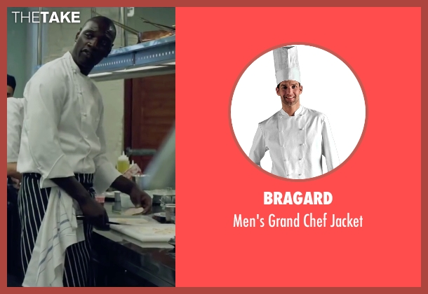 Bragard white jacket from Burnt seen with Omar Sy (Michel)