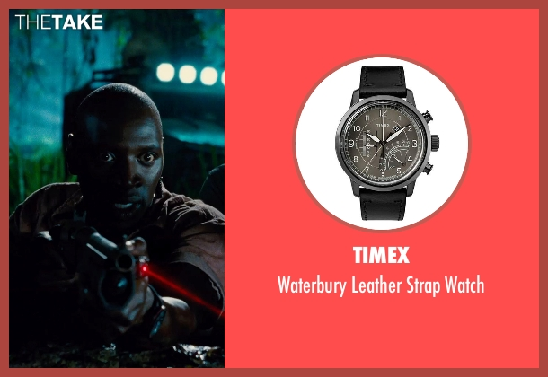 G-Shock black watch from Jurassic World seen with Omar Sy (Barry)