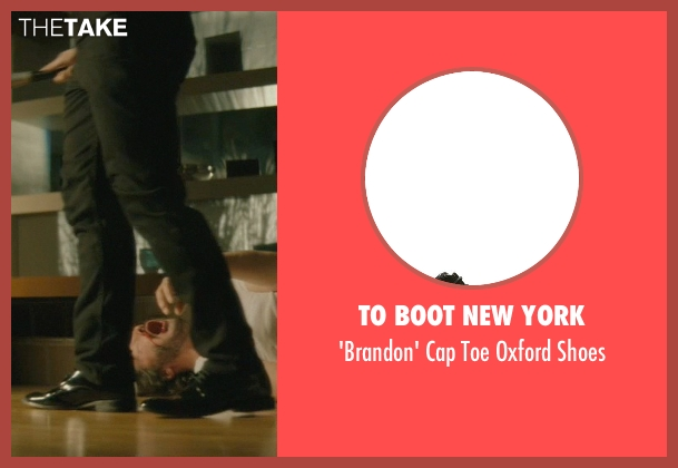 To Boot New York black shoes from John Wick seen with Omer Barnea (Gregori)