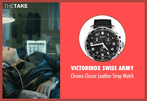 Victorinox Swiss Army black watch from John Wick seen with Omer Barnea (Gregori)