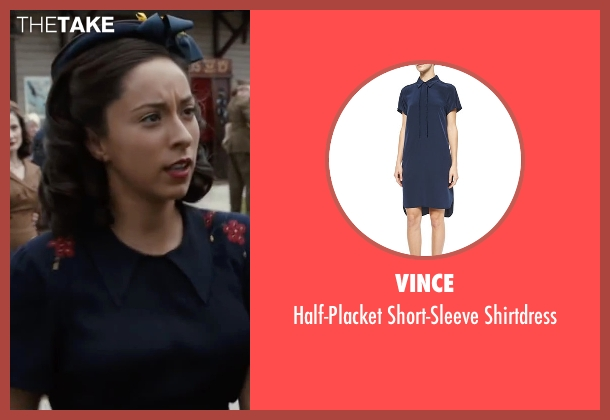 Vince	 blue shirtdress from The Longest Ride seen with Oona Chaplin (Ruth)