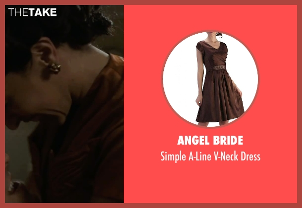 Angel Bride brown dress from The Longest Ride seen with Oona Chaplin (Ruth)