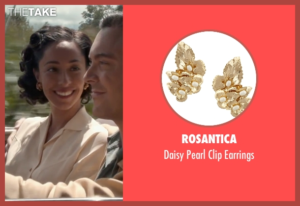 Rosantica gold earrings from The Longest Ride seen with Oona Chaplin (Ruth)