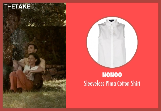 Nonoo white shirt from The Longest Ride seen with Oona Chaplin (Ruth)