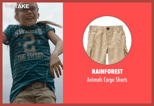 Rainforest beige shorts from Southpaw seen with Oona Laurence (Leila Hope)