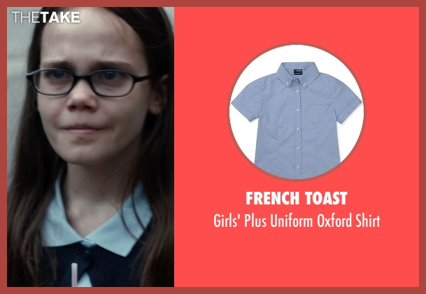 French Toast blue shirt from Southpaw seen with Oona Laurence (Leila Hope)
