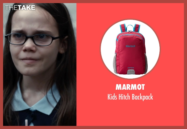 Marmot pink backpack from Southpaw seen with Oona Laurence (Leila Hope)