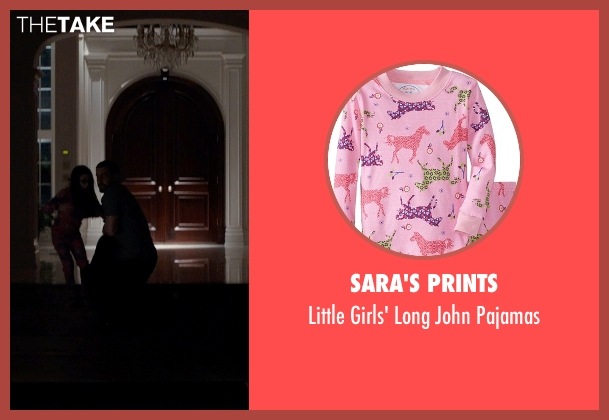 Sara's Prints pink pajamas from Southpaw seen with Oona Laurence (Leila Hope)