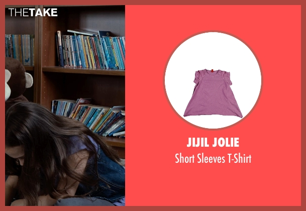 Jijil Jolie purple t-shirt from Southpaw seen with Oona Laurence (Leila Hope)
