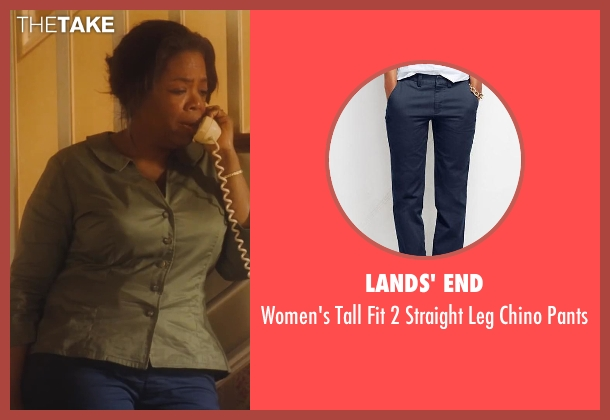 Lands' End blue pants from Lee Daniels' The Butler seen with Oprah Winfrey (Gloria Gaines)