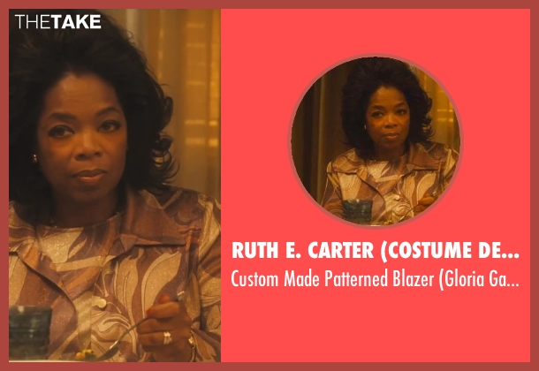 Ruth E. Carter (Costume Designer) brown blazer from Lee Daniels' The Butler seen with Oprah Winfrey (Gloria Gaines)