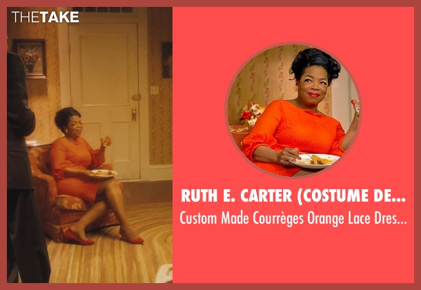 Ruth E. Carter (Costume Designer) orange dress from Lee Daniels' The Butler seen with Oprah Winfrey (Gloria Gaines)