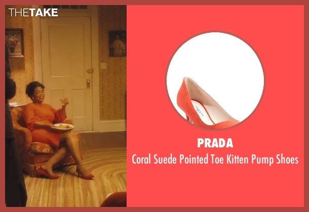 Prada orange shoes from Lee Daniels' The Butler seen with Oprah Winfrey (Gloria Gaines)