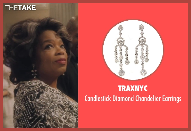 TraxNYC silver earrings from Lee Daniels' The Butler seen with Oprah Winfrey (Gloria Gaines)