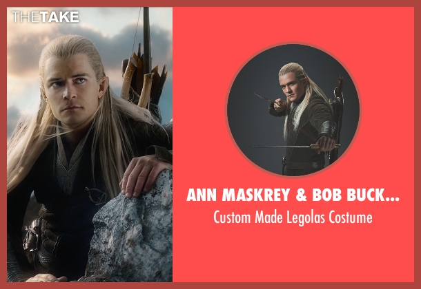 Ann Maskrey & Bob Buck (Costume Designer) costume from The Hobbit: The Battle of The Five Armies seen with Orlando Bloom (Legolas)