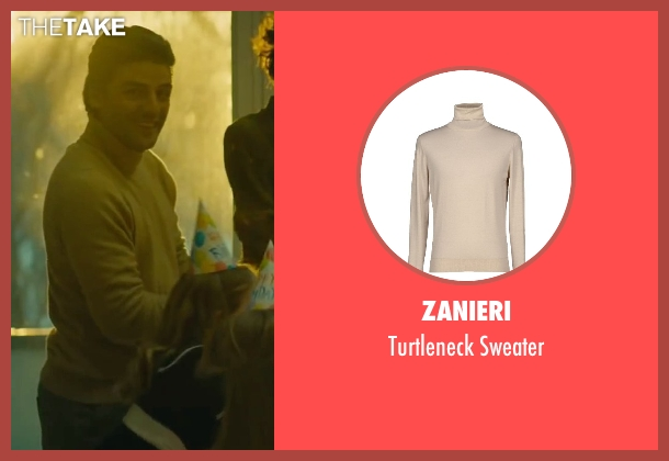 Zanieri beige sweater from A Most Violent Year seen with Oscar Isaac (Abel Morales)
