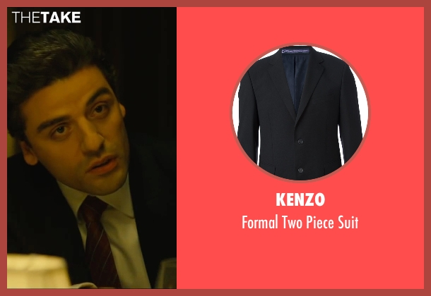 Kenzo black suit from A Most Violent Year seen with Oscar Isaac (Abel Morales)