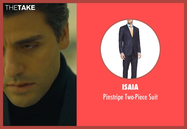 Isaia	 blue suit from A Most Violent Year seen with Oscar Isaac (Abel Morales)
