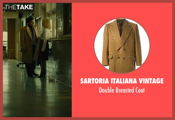 Sartoria Italiana Vintage brown coat from A Most Violent Year seen with Oscar Isaac (Abel Morales)