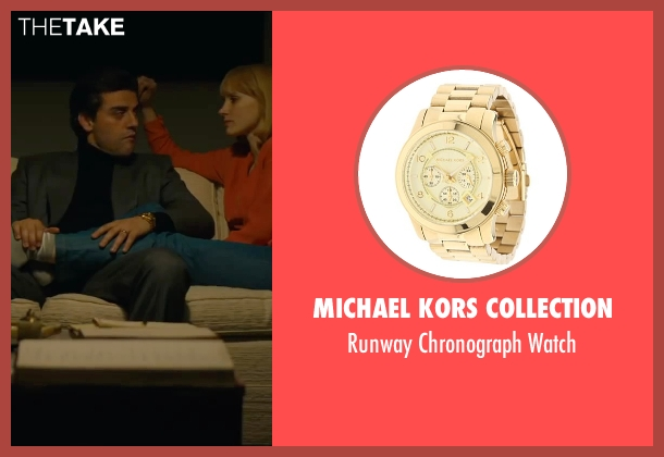 Michael Kors Collection gold watch from A Most Violent Year seen with Oscar Isaac (Abel Morales)