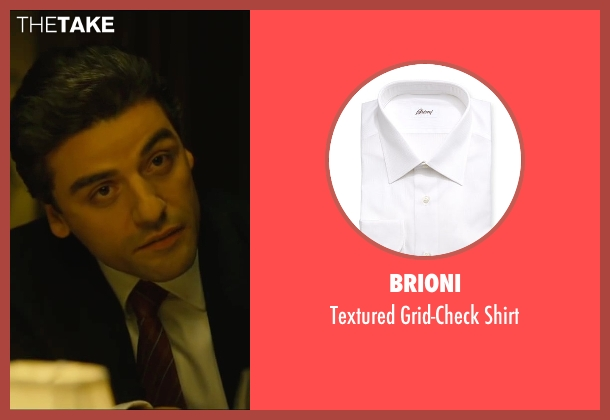 Brioni white shirt from A Most Violent Year seen with Oscar Isaac (Abel Morales)