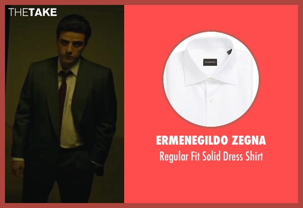 Ermenegildo Zegna white shirt from A Most Violent Year seen with Oscar Isaac (Abel Morales)