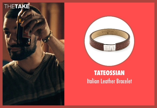 Tateossian brown bracelet from Drive seen with Oscar Isaac (Standard)