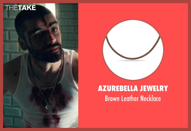 AzureBella Jewelry brown necklace from Drive seen with Oscar Isaac (Standard)
