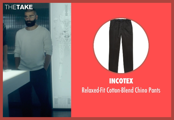Incotex black pants from Ex Machina seen with Oscar Isaac (Nathan)