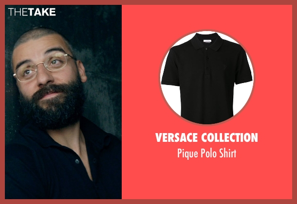 Versace Collection black shirt from Ex Machina seen with Oscar Isaac (Nathan)