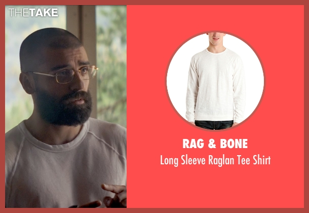 Rag & Bone white shirt from Ex Machina seen with Oscar Isaac (Nathan)