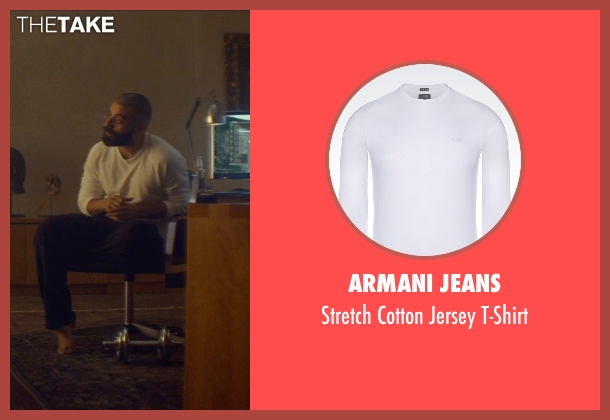 Armani Jeans white t-shirt from Ex Machina seen with Oscar Isaac (Nathan)