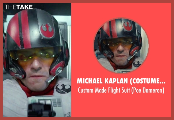 Michael Kaplan (Costume Designer) suit from Star Wars: The Force Awakens seen with Oscar Isaac (Poe Dameron)