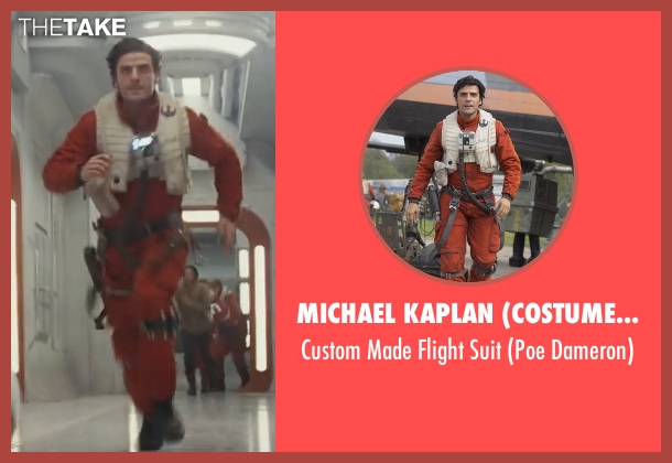 Michael Kaplan (Costume Designer) suit from Star Wars: The Last Jedi seen with Oscar Isaac (Poe Dameron)