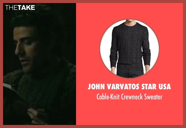 John Varvatos Star USA  black sweater from The Bourne Legacy seen with Oscar Isaac (Outcome #3)