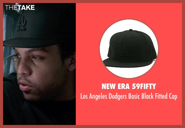 New Era 59Fifty black cap from Straight Outta Compton seen with O'Shea Jackson Jr. (Ice Cube)