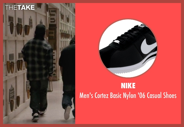 Nike black shoes from Straight Outta Compton seen with O'Shea Jackson Jr. (Ice Cube)