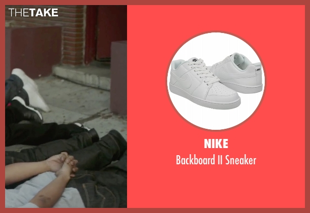 Nike white sneaker from Straight Outta Compton seen with O'Shea Jackson Jr. (Ice Cube)