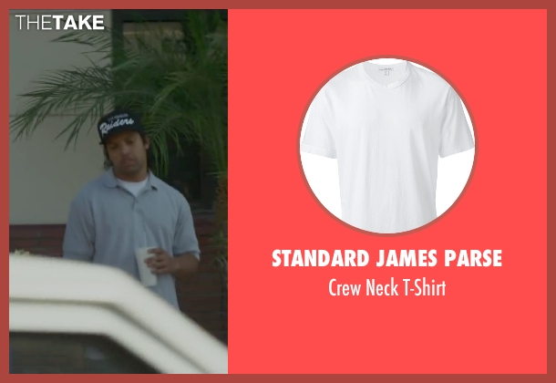 Standard James Parse white t-shirt from Straight Outta Compton seen with O'Shea Jackson Jr. (Ice Cube)