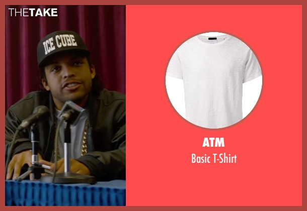 ATM white t-shirt from Straight Outta Compton seen with O'Shea Jackson Jr. (Ice Cube)