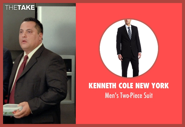 Kenneth Cole New York black suit from Unfinished Business seen with Osmani Rodriguez (Brian Peters)