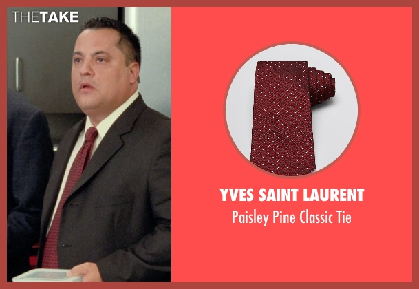 Yves Saint Laurent red tie from Unfinished Business seen with Osmani Rodriguez (Brian Peters)