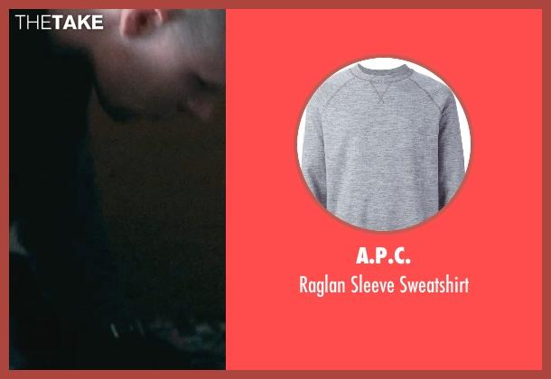 A.P.C. gray sweatshirt from The Town seen with Owen Burke (Desmond Elden)