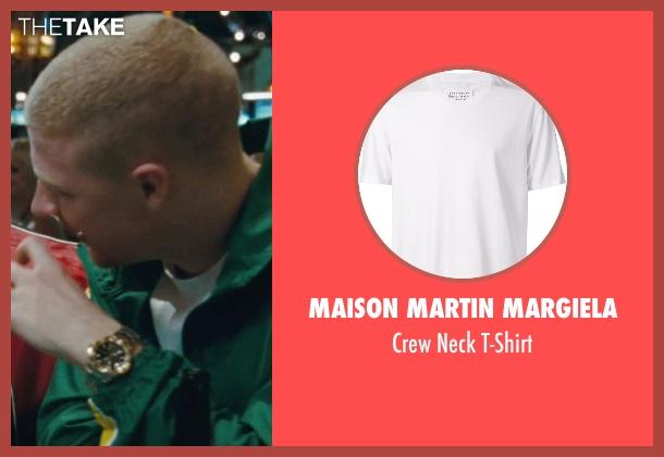 Maison Martin Margiela white t-shirt from The Town seen with Owen Burke (Desmond Elden)