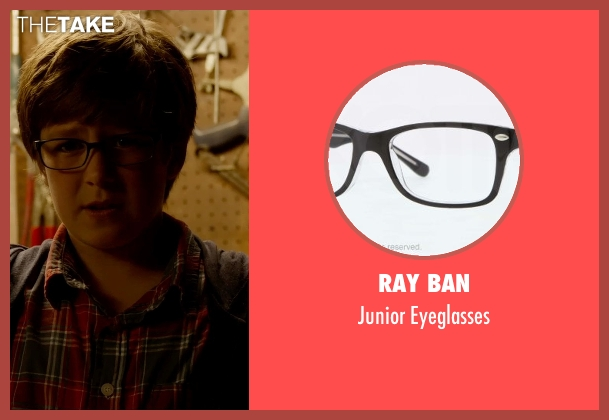 Ray Ban black eyeglasses from Fantastic Four seen with Owen Judge (Young Reed Richards)