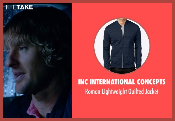 INC International Concepts blue jacket from Bastards seen with Owen Wilson (Kyle Reynolds)