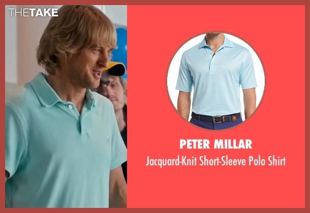Peter Millar blue shirt from Bastards seen with Owen Wilson (Kyle Reynolds)
