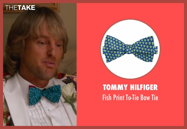 Tommy Hilfiger blue tie from Bastards seen with Owen Wilson (Kyle Reynolds)